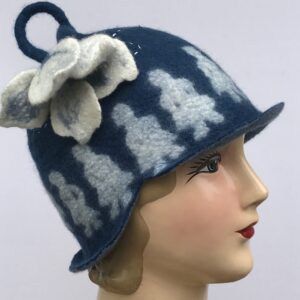 Hand Felted cloche Hat