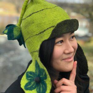 felt pixie hat