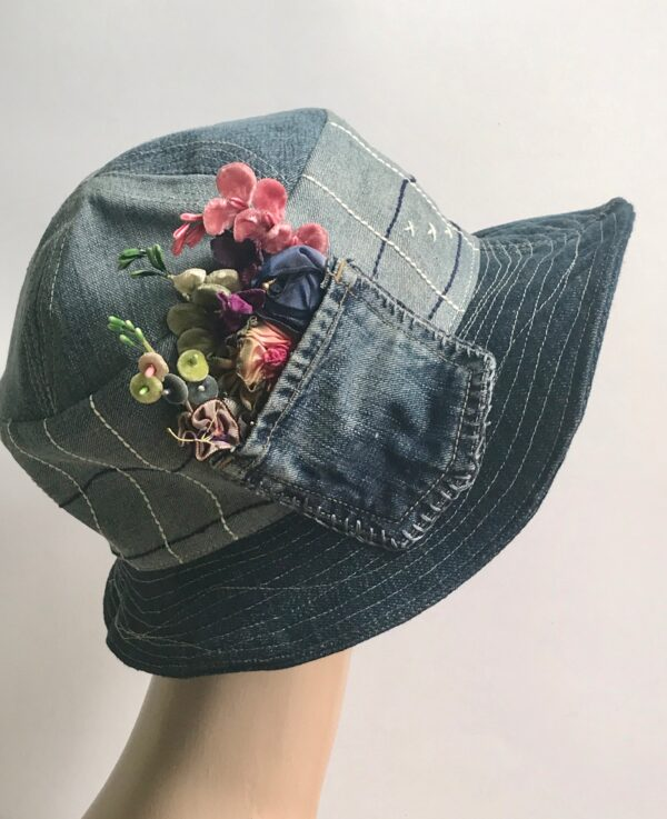 up cycled repurposed hat