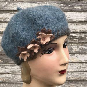 hand knit wool beret